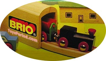 Old toy train wood toys two wooden railway carriages Vintage Toy