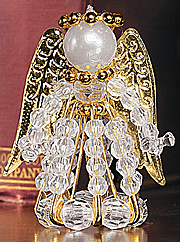 Crystal And Gold Angel Christmas Ornament