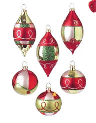 decorated glass tree ornaments - Glass Christmas Decorations