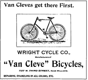 Van Cleve - Wright Brothers - Bicycle Advertisement