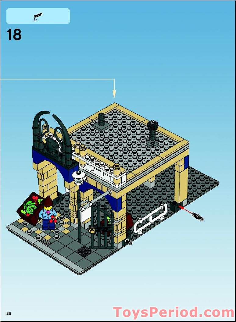 Lego 10190 Market Street Set Parts Inventory And