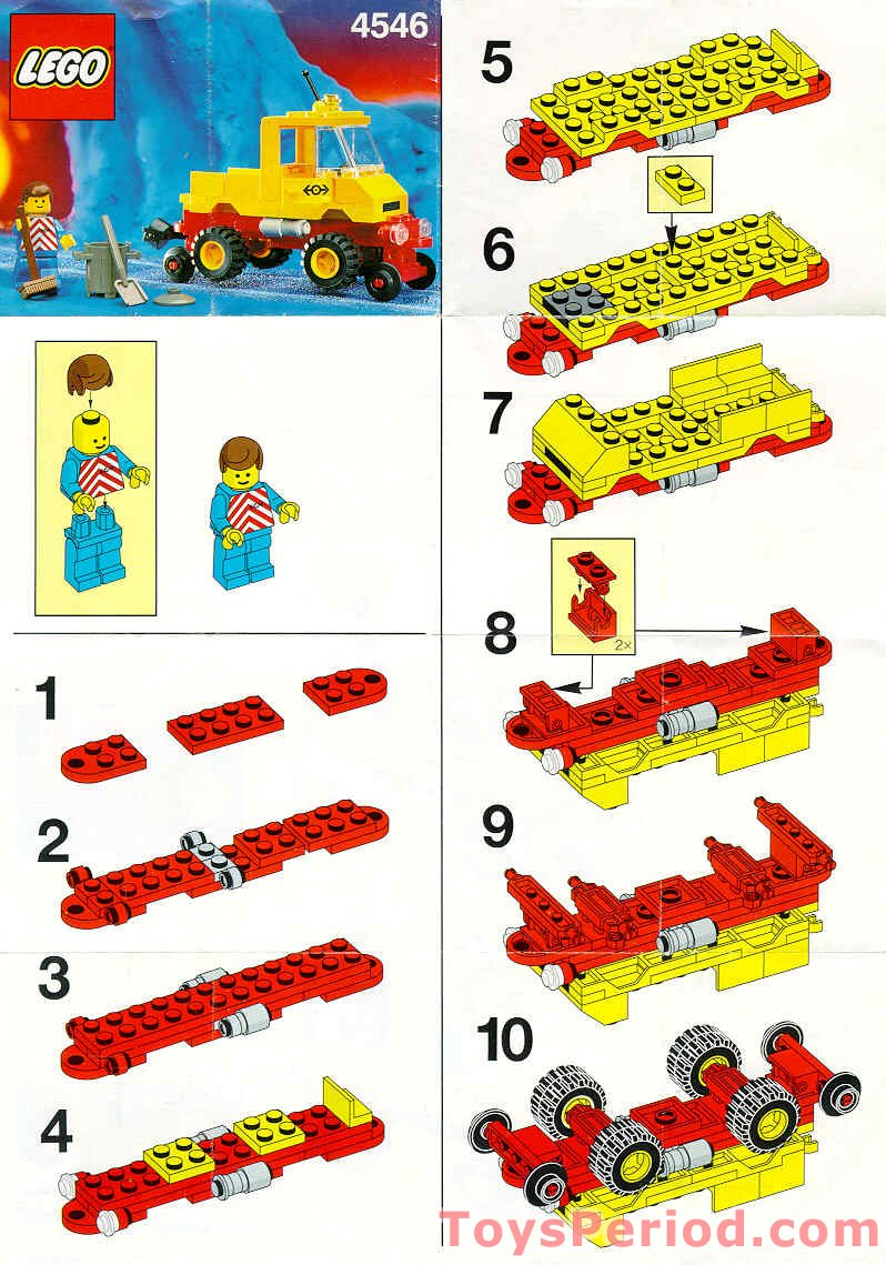 Lego 4546 Road And Rail Maintenance Set Parts Inventory