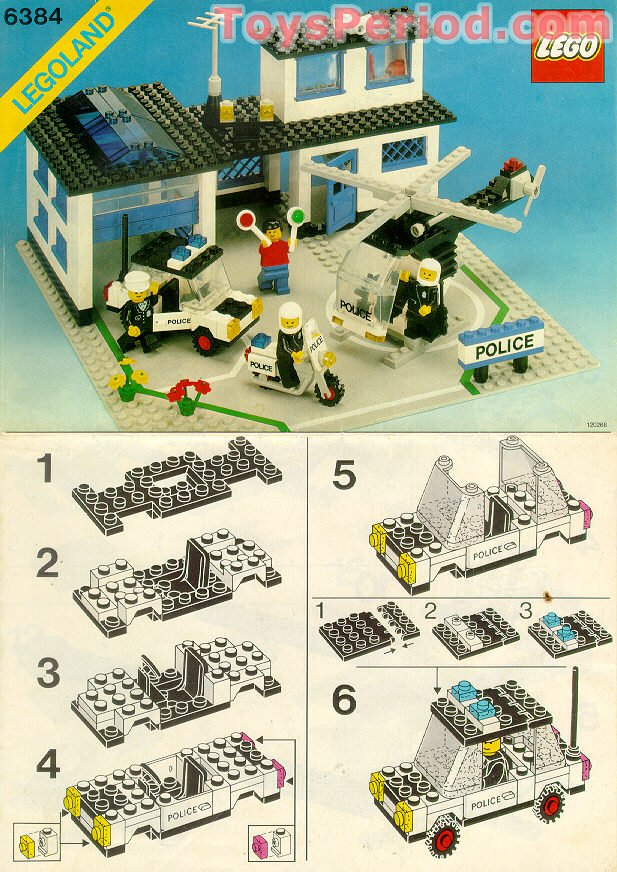 Lego 6384 police station set parts inventory and for Lego classic house instructions