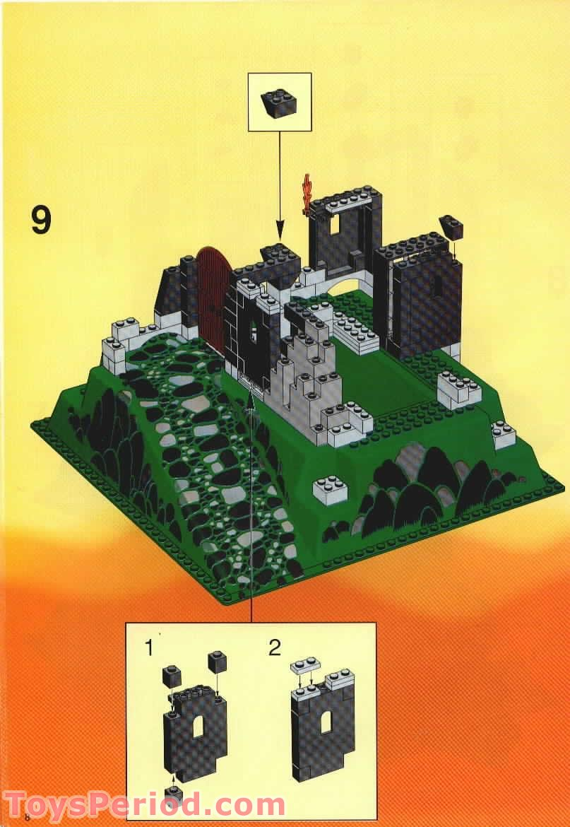 Lego 6082 Fire Breathing Fortress Set Parts Inventory And