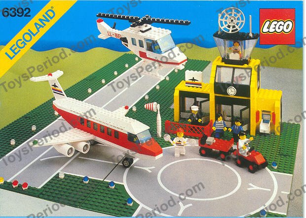 Lego 6392 airport large vintage town set 100 complete at toysperiod