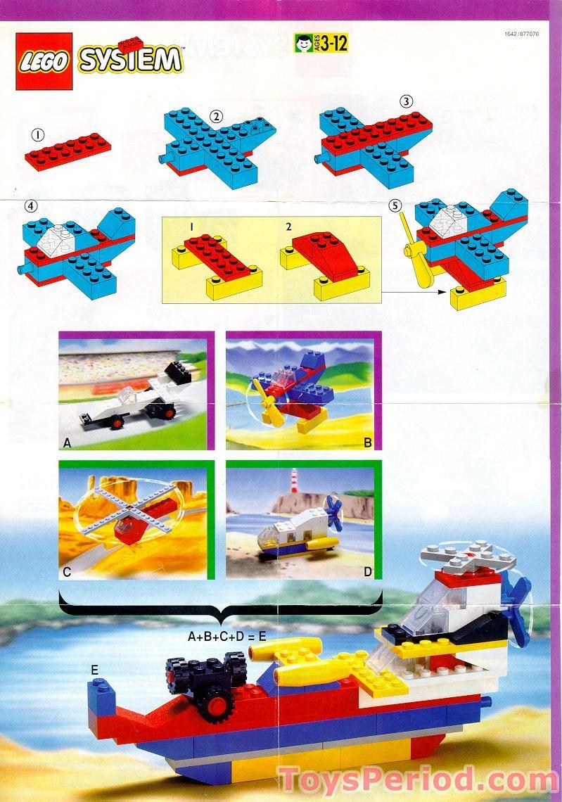 Blue Star Blade Reviews >> LEGO 1642-1 McDonald's Promotional Set, LEGO Motion 3B Sea Eagle Set Parts Inventory and ...