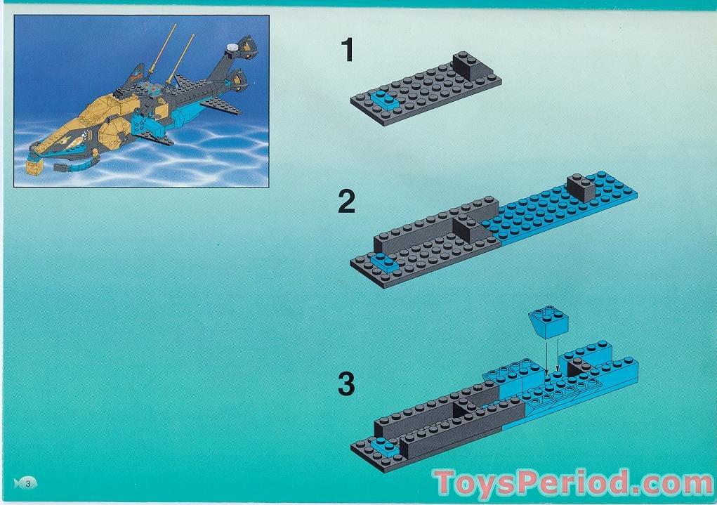 Lego 6190 Sharks Crystal Cave Aquashark Sea Wolf Set Parts