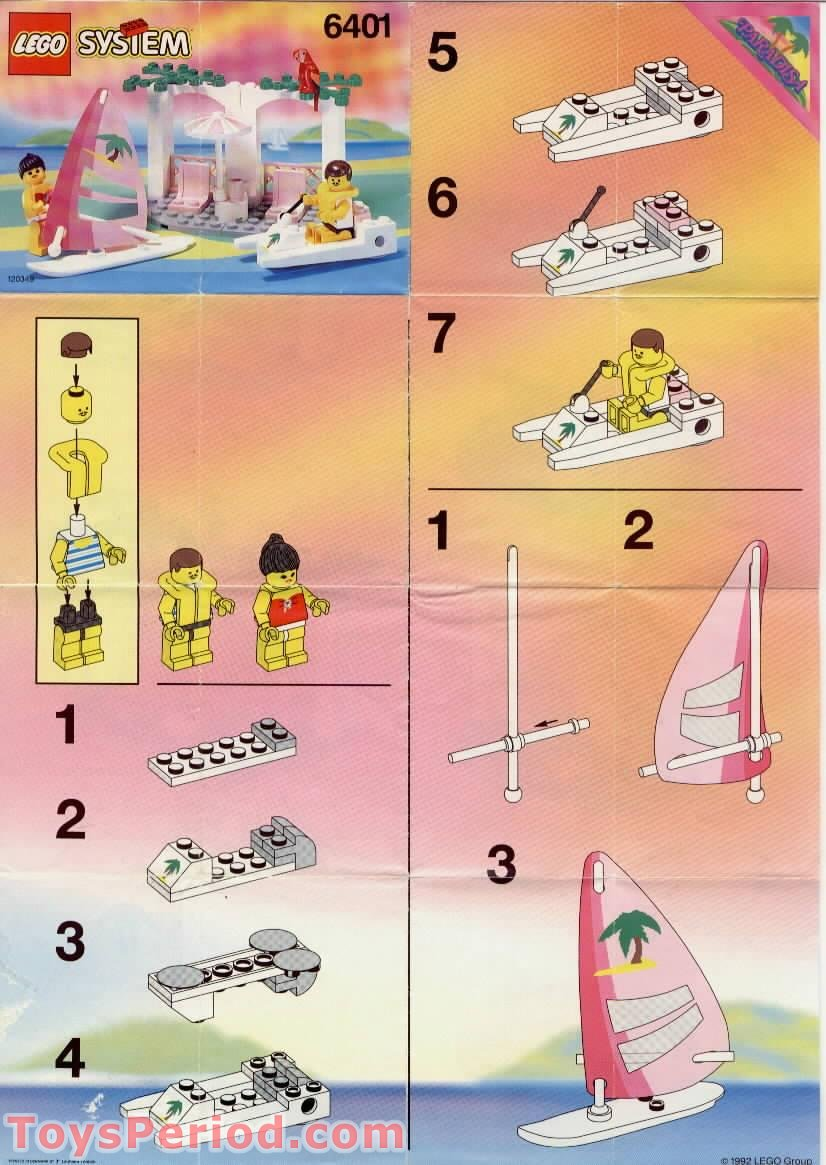 Lego 6401 Seaside Cabana Set Parts Inventory And Instructions Lego Reference Guide