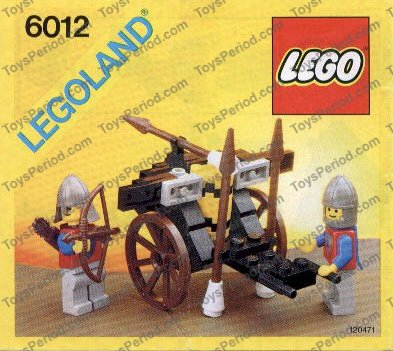 Lego 6012 Siege Cart Set Parts Inventory And Instructions