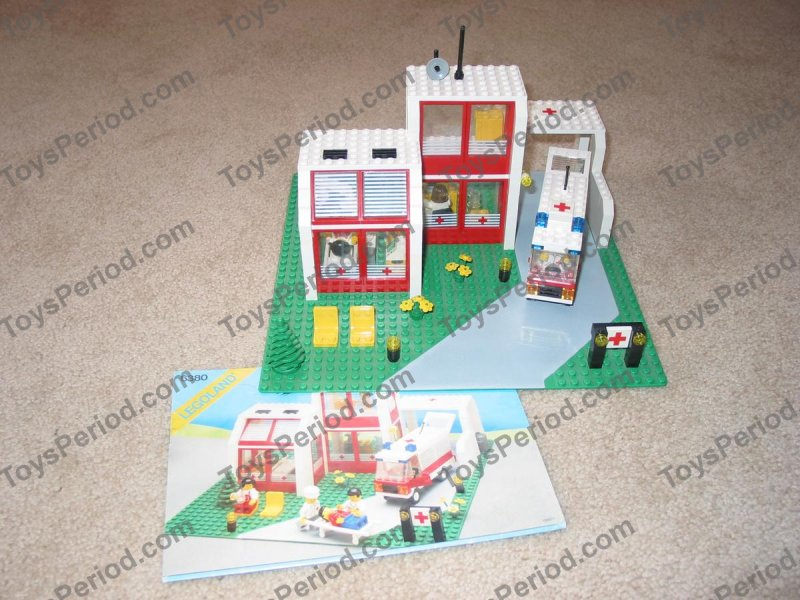 Lego 6380 Emergency Treatment Center Set Parts Inventory And