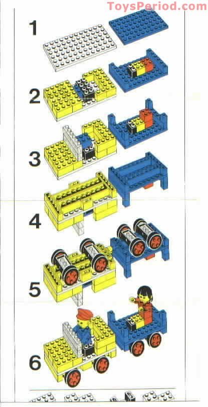 Lego 197 Lego Building Set With People Farm Vehicle And Animals
