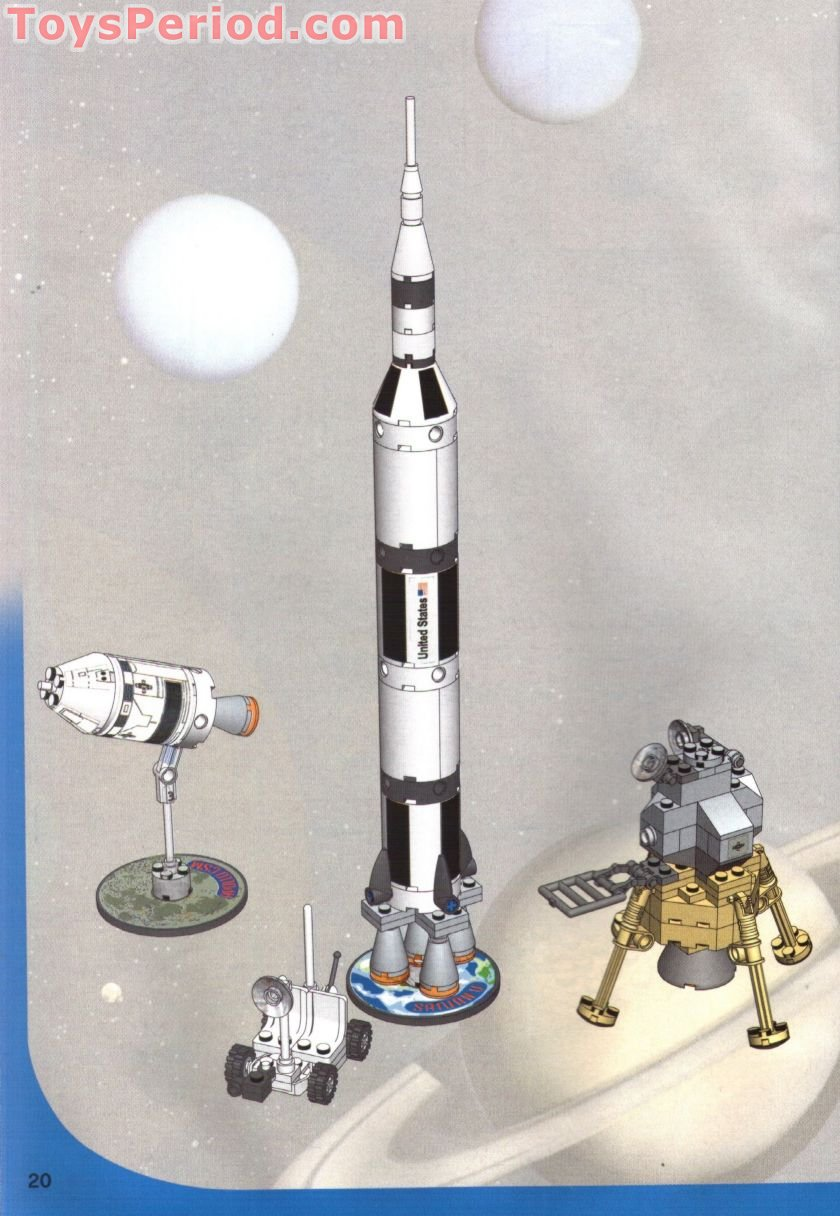 Lego 7468 Saturn V Moon Mission Set Parts Inventory And