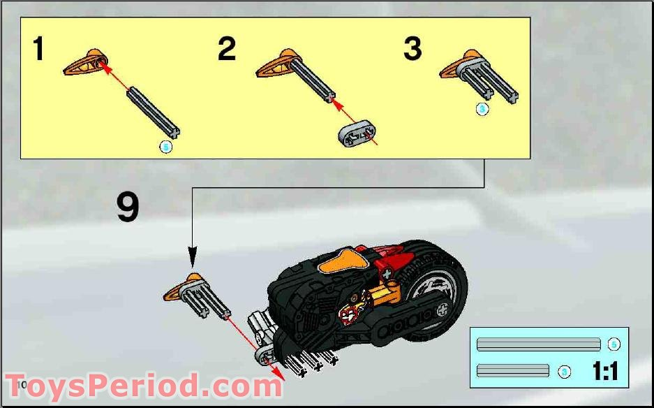 LEGO 8355 H.O.T. Blaster Bike Set Parts Inventory and
