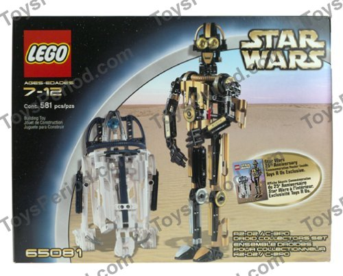 Lego 65081 r2 d2 and c 3po droid collectors set set parts inventory and instructions lego - Lego starwars r2d2 ...