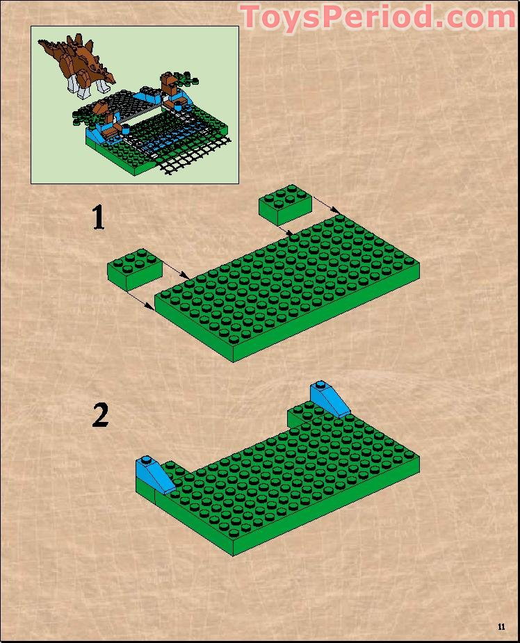 lego triceratops trapper instructions