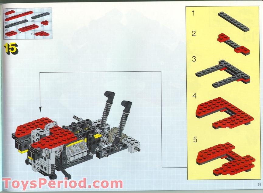 5 x lego red slope brick 33 3 x 2 inverted 3747//set 5590 6542 8858 7727 6484...