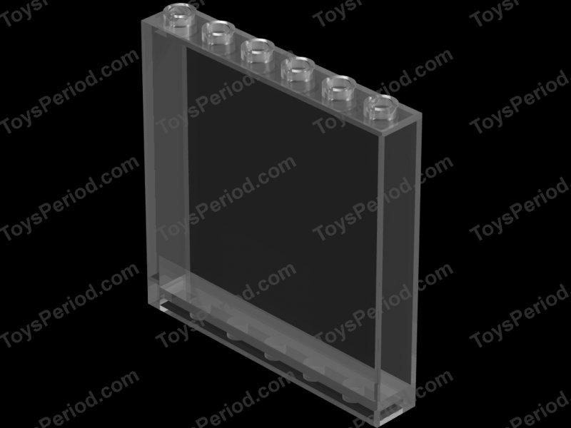 Lego 5 New Trans-Black Transparent Panels 1 x 4 x 1 Pieces