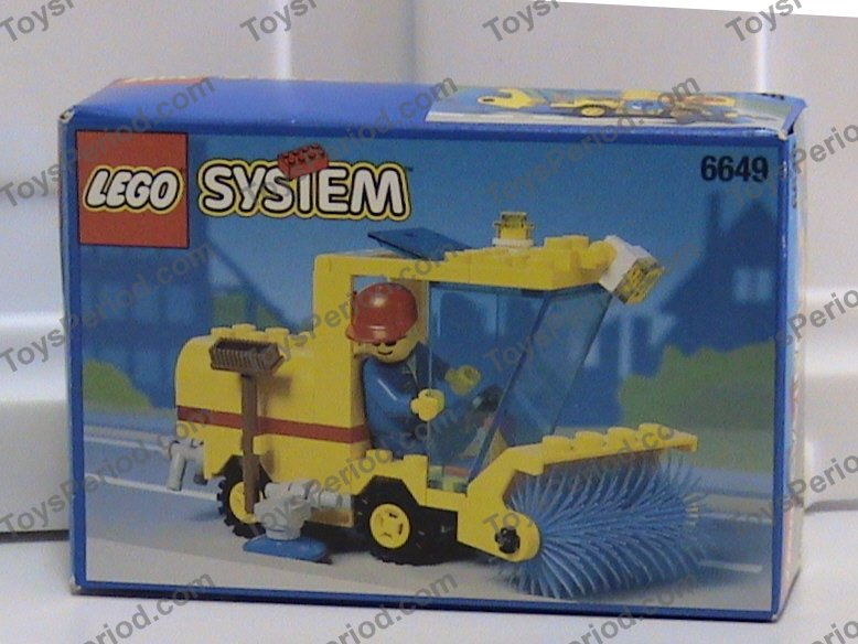 Lego 6649 Street Sweeper Set Parts Inventory And Instructions Lego