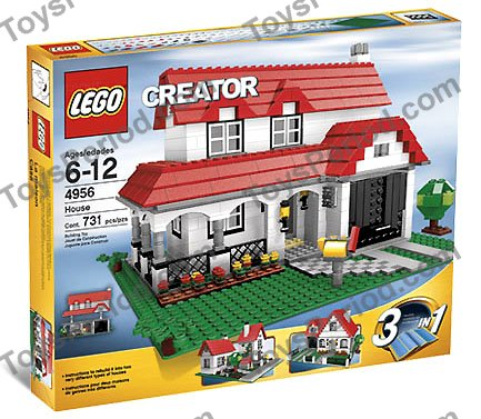 Lego 4956 house set parts inventory and instructions for Lego house original