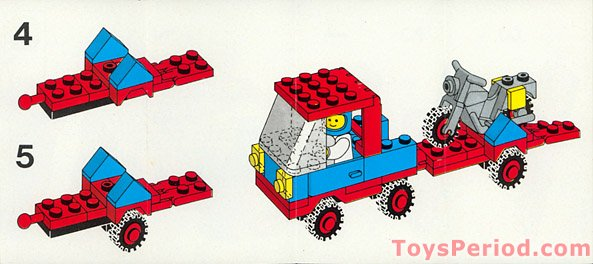 Lego 6654 Motorcycle Transport Set Parts Inventory And