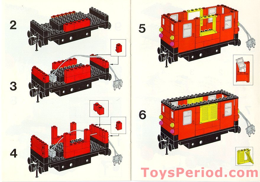Lego 7720 Diesel Freight Train Set Battery Set Parts Inventory And