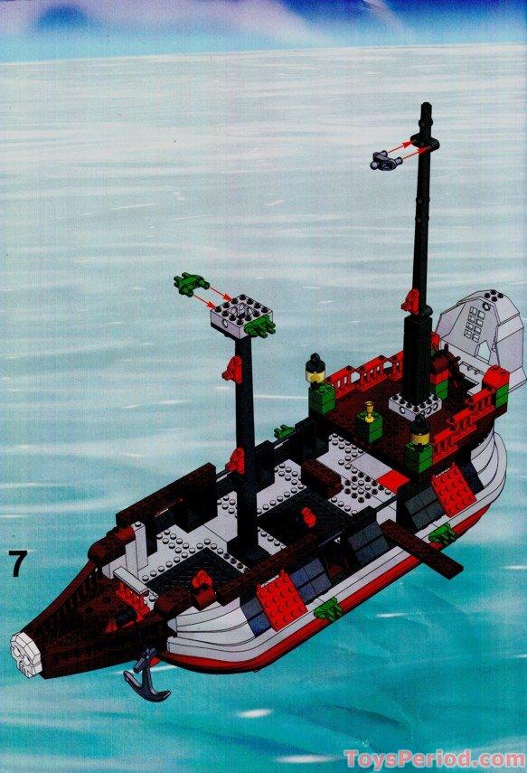 LEGO 7075-1 Captain Redbeard's Pirate Ship Set Parts