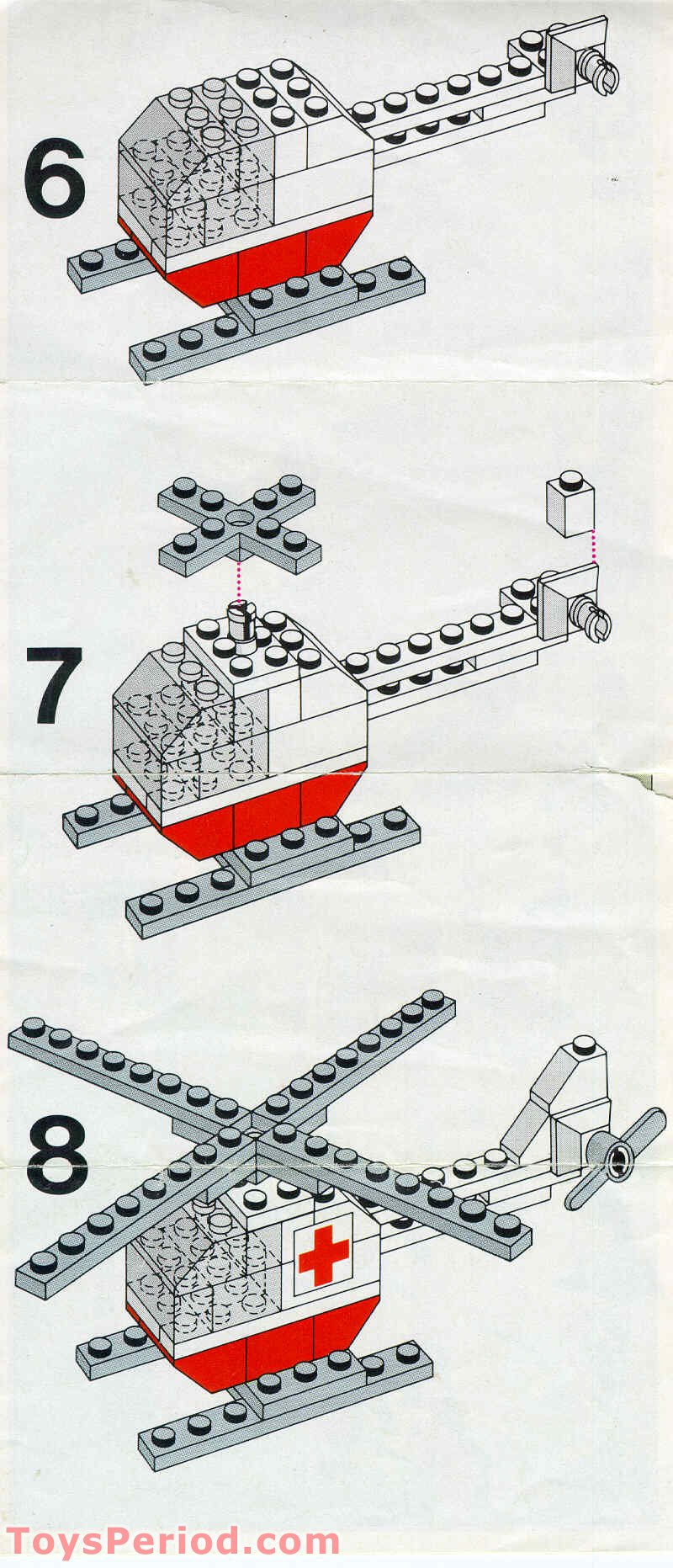 Lego 626 2 Red Cross Helicopter Set Parts Inventory And Instructions