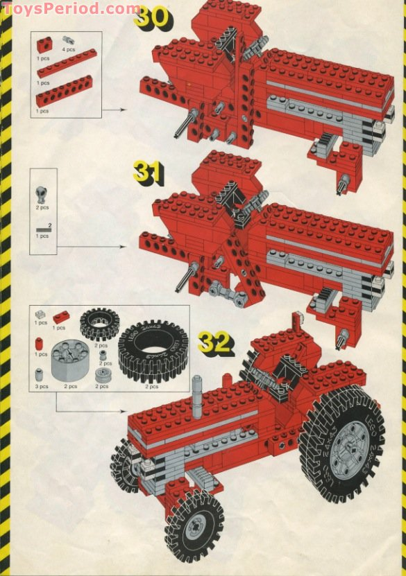 Lego 952 Farm Tractor Set Parts Inventory And Instructions Lego