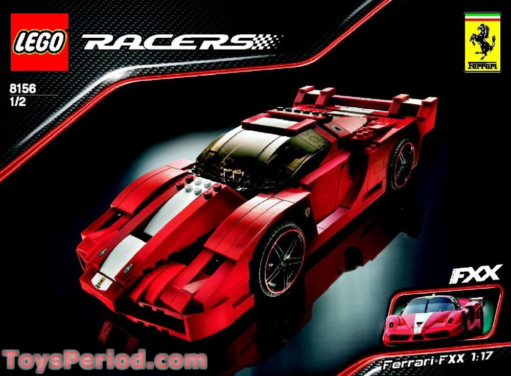 Lego 8156 Ferrari Fxx 1 17 Set Parts Inventory And Instructions Lego Reference Guide