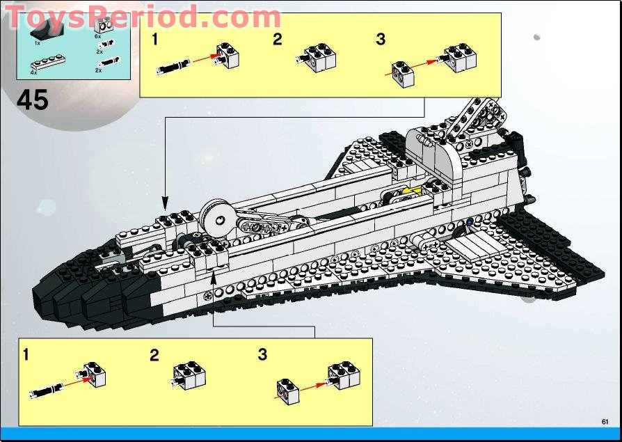 lego space shuttle parts list - photo #48