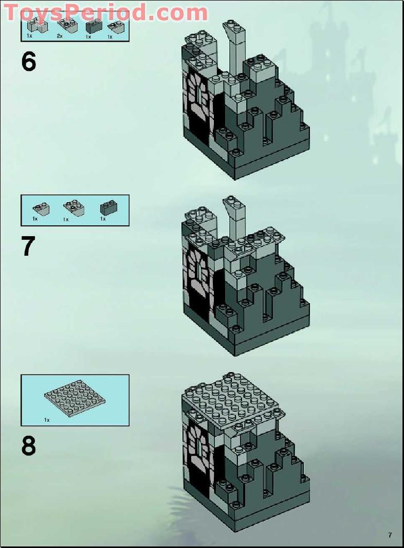 Lego Evil Wizard Castle Instructions Skeleton Tower 7093