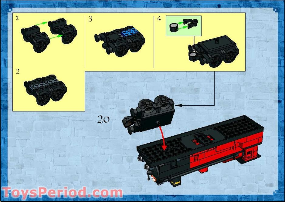 Lego Hogwarts Express 5972 Instructions