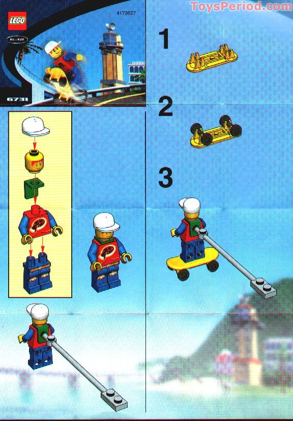 LEGO 6731 Skateboarding Pepper Set Parts Inventory and ...