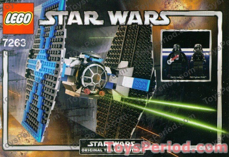 LEGO 7263 TIE Fighter Classic Star Wars Darth Vader Ship ...