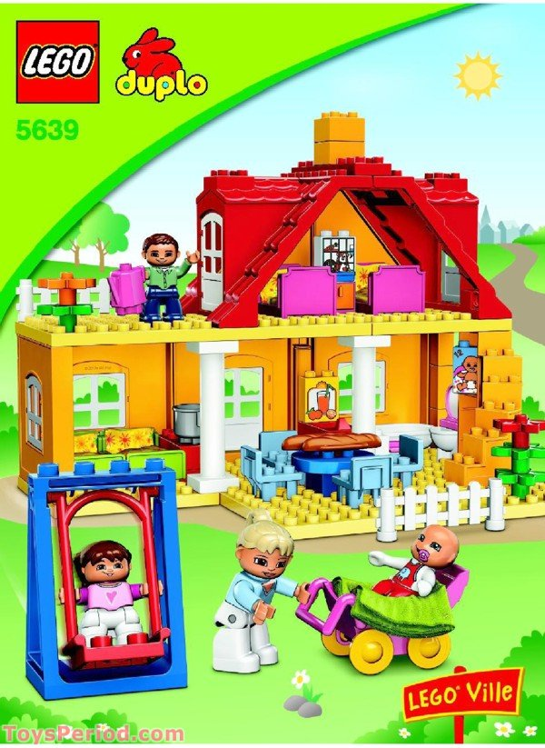 Lego 5639 Family House Set Parts Inventory And Instructions Lego