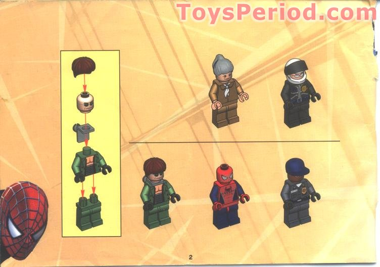 Lego 4854 Doc Ock S Bank Robbery Set Parts Inventory And