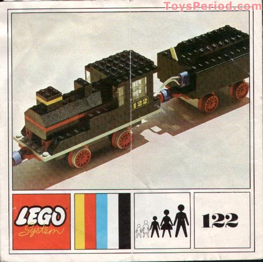 Lego 122 Loco And Tender Set Parts Inventory And