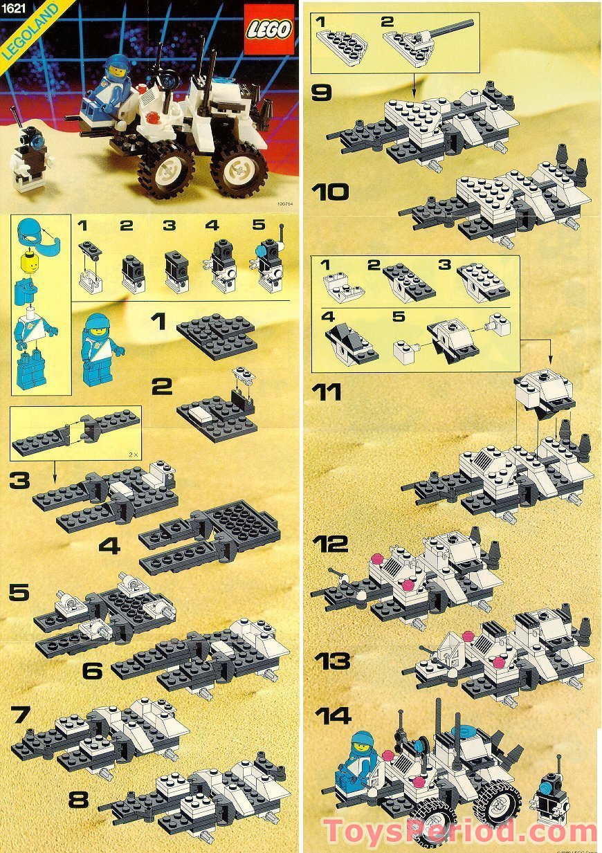 lego 1621 lunar mpv vehicle set parts inventory and instructions lego reference guide. Black Bedroom Furniture Sets. Home Design Ideas