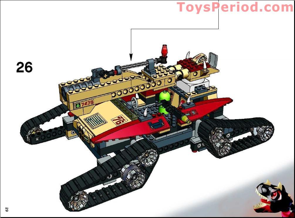 Lego 7476 Iron Predator Vs T Rex Set Parts Inventory And
