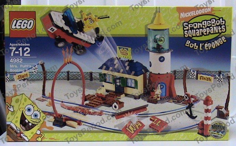 Lego Sponge Bob Aufkleber aus Set 4982 komplett