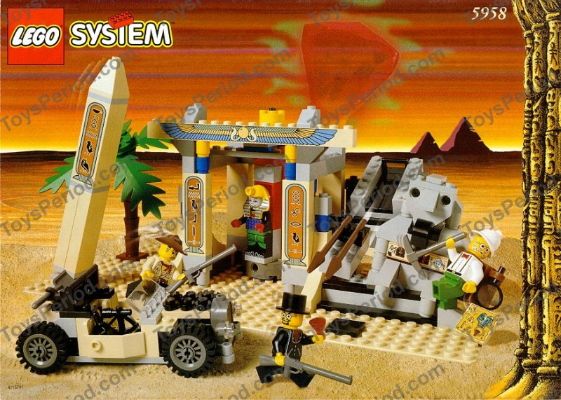 LEGO 5958 Mummy's Tomb Set Parts Inventory and Instructions - LEGO ...