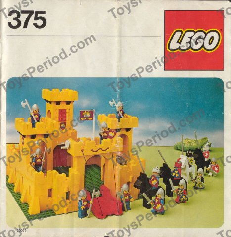 Lego 375 2 Castle Set Parts Inventory And Instructions Lego