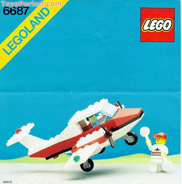 Lego 6687 Turbo Prop I Set Parts Inventory And