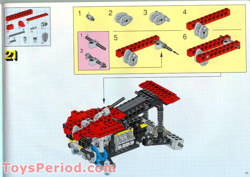 LEGO TECHNIC Blue suspension steering link 6572 sets 8858 Rebel Wrecker