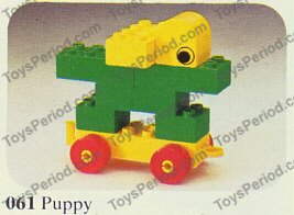 Lego 061 2 Puppy Set Parts Inventory And Instructions
