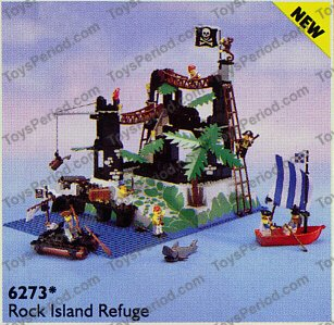lego 6273 rock island refuge set parts inventory and