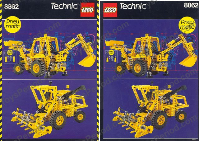 Lego 8862 backhoe grader set parts inventory and - Jeux de construction lego technic ...