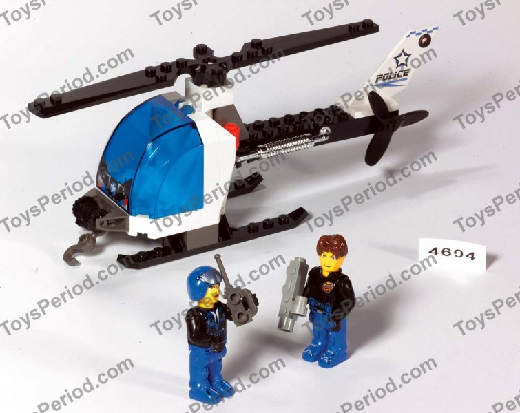 Lego 4604 Police Copter Set Parts Inventory And Instructions Lego