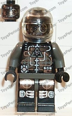 LEGO System Space Insectoids Silver Droid Minifigure Minifig 6977 6905 6969 6919
