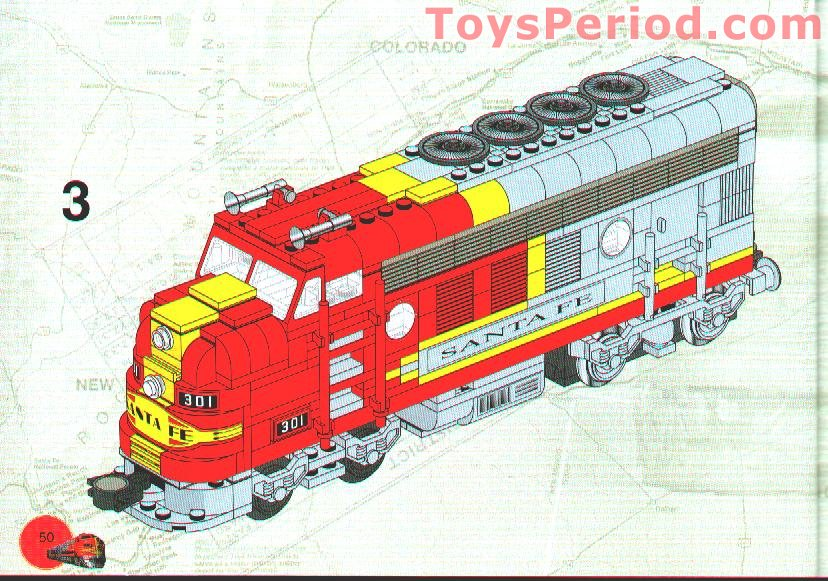 Lego 10020 1 Santa Fe Super Chief Standard Edition Set Parts